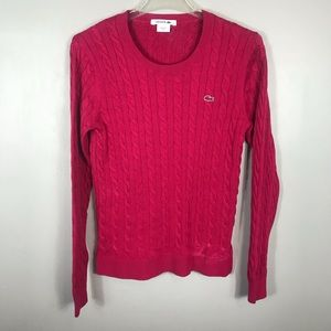 Lacoste cable knit sweater Sz 40(flaw)